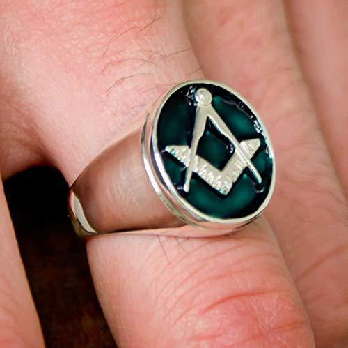 Amazon com: Blue-green Masonic ring - Blue Lodge of