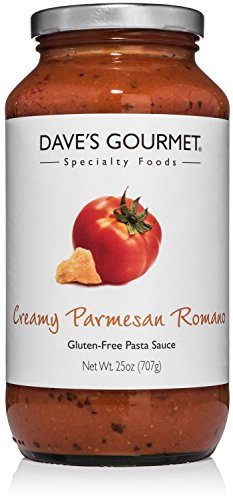 Dave's Gourmet Creamy Parmesan Romano Pasta Sauce, Pack of 3
