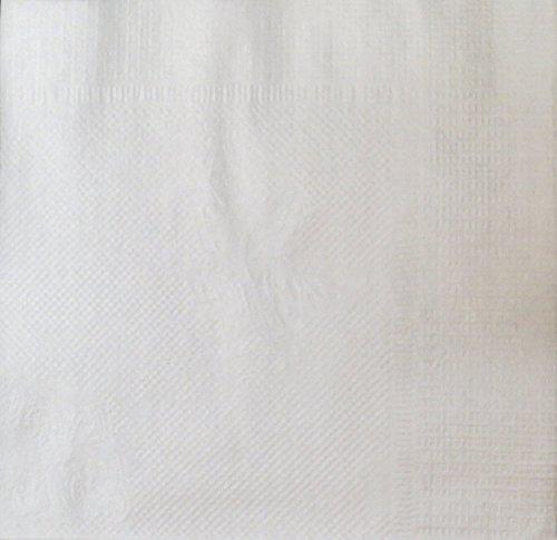LaGovo by Crystalware, BN4000, Beverage Napkins, 1-PLY Cocktail Napkin, Bulk Package, White, (Case of 4,000 Napkins)