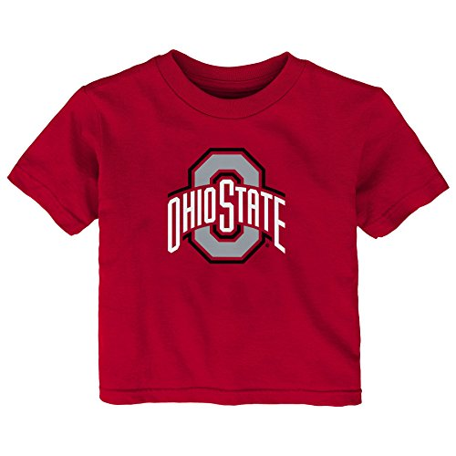 - Gen 2 NCAA Ohio State Buckeyes Infant Primary Logo Short Sleeve Tee, 12 Months, Red