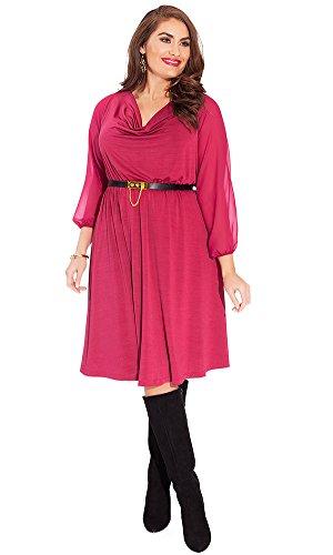 IGIGI Women's Plus Size Soleil Dress in Mulberry 14/16