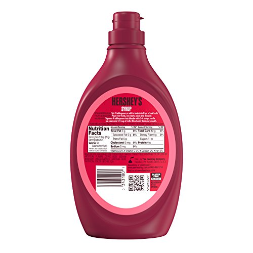 034000003181 - HERSHEY'S Syrup, Strawberry, Dessert Topping/Beverage Syrup, Gluten-Free, 22 Ounce carousel main 3