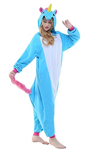 Unicorn Unisex Halloween Pajamas Anime Carnival Outfit Cosplay Costume(M for 63-66