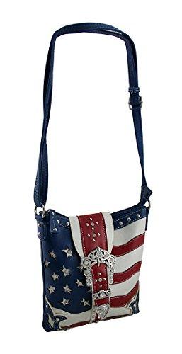 Bandera Americana Crossbody Bolso Rhinestone Estrellas Oculta Bolsa 5EnwHpqpx