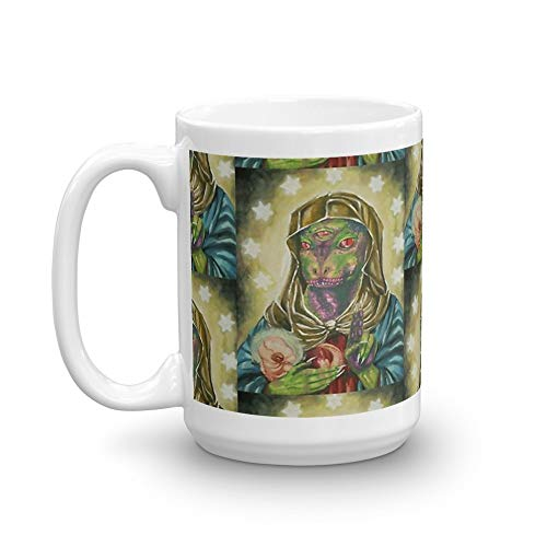 - Blessed Reptilian Virgin and Child 15 Oz White Ceramic