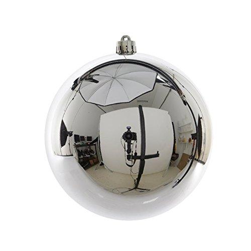 1 pelota de Navidad 20 cm Plata addobbi decoro Árbol: Amazon.es: Hogar