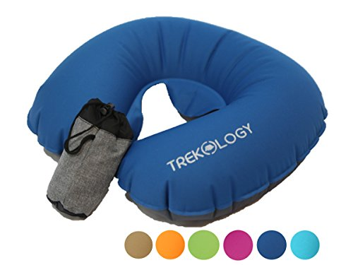 Trekology Ultralight Travel / Neck Air Pillows for Airplane, Compact Head and Neck Support Pillow, Travel Accessories as a Headrest, Neck Cushion for Best Sleep while Travelling (Back To Basics Blender Parts)