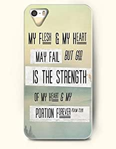 OOFIT Stylish My Flesh And My Heart May Fall But God Is The Strength Of My Heart And My Portion Forever Psalm 72:26 Pattern Case for iPhone 4 4S -- Bible Quotes Series