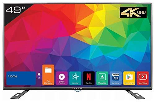 Kevin 124.5 cm (49 inches) 4K Ultra HD Smart LED TV KN49UHD (Black) (2018 Model)