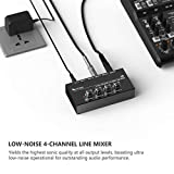 FIFINE Ultra Low-Noise 4-Channel Line Mixer for