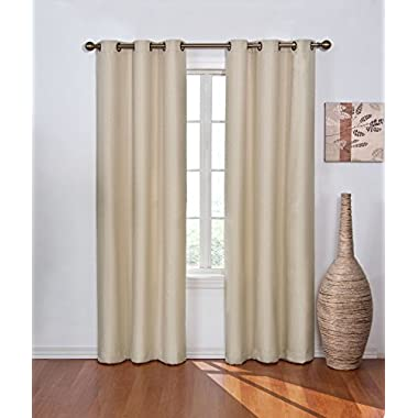 Eclipse Madison Blackout Window Curtain Panel, Light Khaki, 42 by 84