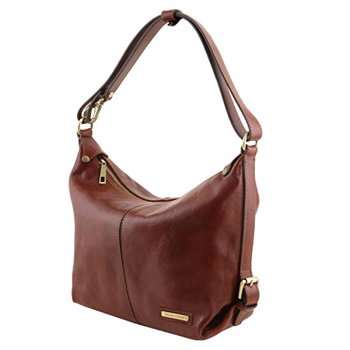 Sabrina Tuscany hobo Leather Red Leather Leather bag Brown Tuscany OqzS1xgp
