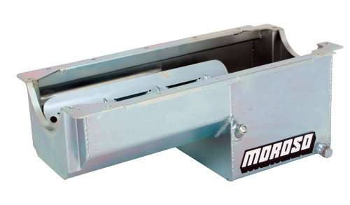 Moroso 21019 Oil Pan for Chevy Small-Block/Dart/Rocket Engine Blocks - Moroso Tray Louvered Windage