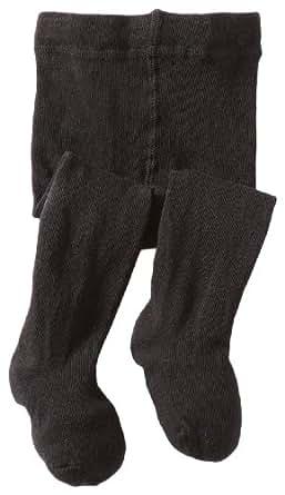 Jefferies Socks Baby-girls Infant Seamless Organic Cotton Tights, Black, 6-18 Months