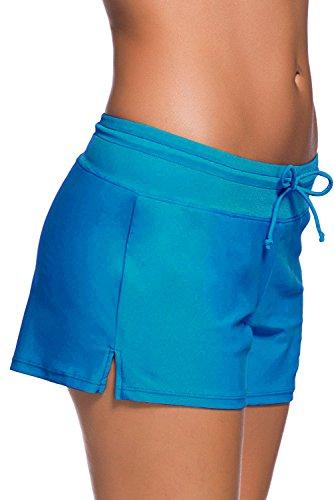 QUEENIE VISCONTI  - Shorts - para mujer azul claro