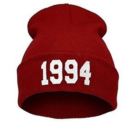 - Unisex 1994 Pattern Hip Hop Knitting Cap Trendy Baseball Cap Multiple Colors