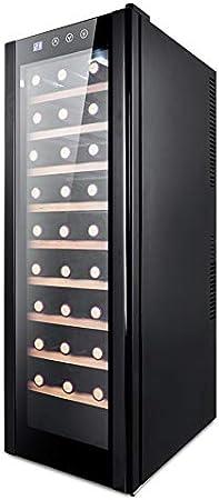 Wine Refrigerator 30 Botellas De hasta 985 Mm De Altura Zonas De Temperatura 11-18 ° C Refrigerador De Vino Independiente De Acero Inoxidable Negro, Black