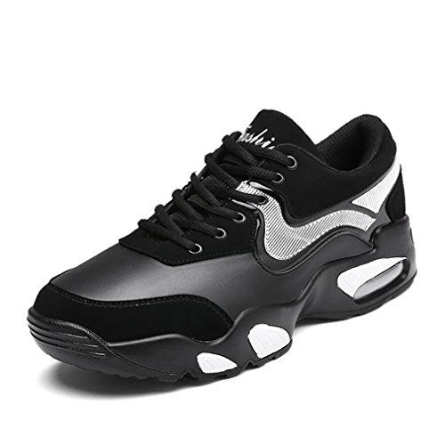 Homme Chaussure de Mode Basket pour Trail Entraînement Fitness Sport Cheville Lacets Antidérapage 39-44 Confort blanc noir SDxuL1Qj