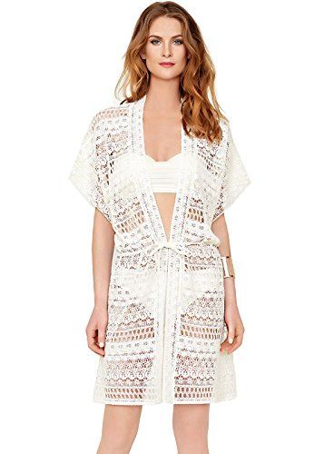 90a1bb52da10f Gottex Pearl Goddess Open Jacket Coverup 17PG-627-106 at Amazon Women's  Clothing store: