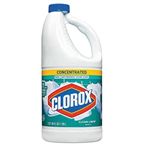 Clorox 30772CT Concentrated Scented Bleach, Clean Linen, 64oz Bottle, 8 per Carton