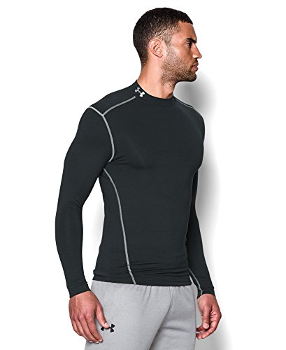 Under Armour Men's ColdGear Armour Compression Mock Long Sleeve Shirt, Black (001)/Steel, XXX-Large by Under Armour (Image #2)
