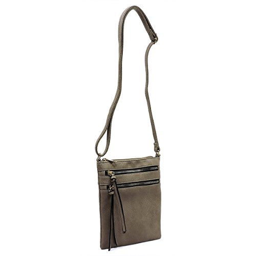 Pocket Taupe Americana Crossbody Multi Bag Functional axXHXrE