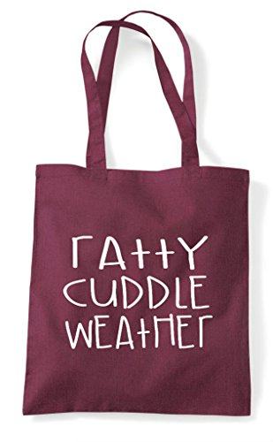 Tote Funny Cuddle Animal Shopper Themed Pet Weather Cute Ratty Bag Burgundy xBq0RICwB