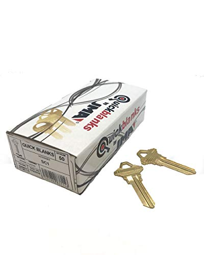 SC1 Brass Key Blanks Box 50 by JMA (One Key Blank)