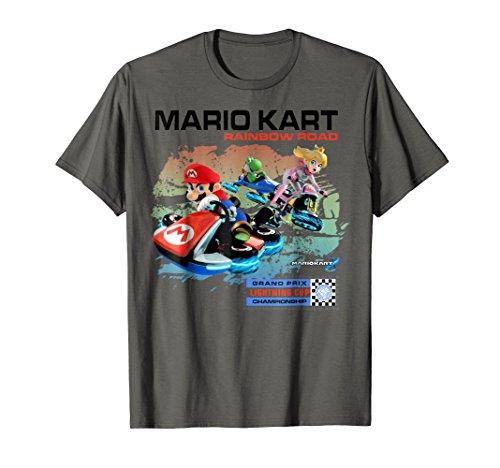 Nintendo Mario Kart Rainbow Road Watercolor Graphic T-Shirt