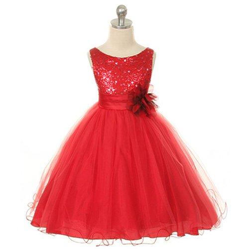 93dca718723 Kids Dream Red Sequin Double Mesh Flower Girl Dress Little Girls 2T ...