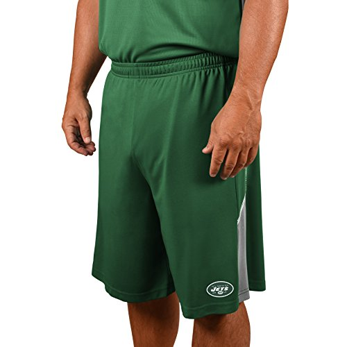 NFL New York Jets Adult Men NFL Plus Synthetic Shorts,4X,Dk.Green - Nfl York Jets New Short