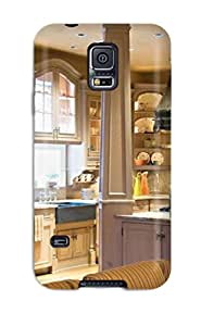 Hard Plastic Galaxy S5 Case Back Cover,hot Country Kitchen With Oak Columns And Recessed Cabinets Case At Perfect Diy