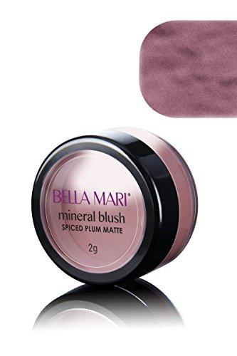 Bella Mari Natural Mineral Blush, Spiced Plum, Matte; 0.1oz