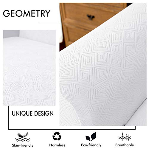 Best Subrtex 2 Piece Geometric Printed Stretch Fabric Sofa