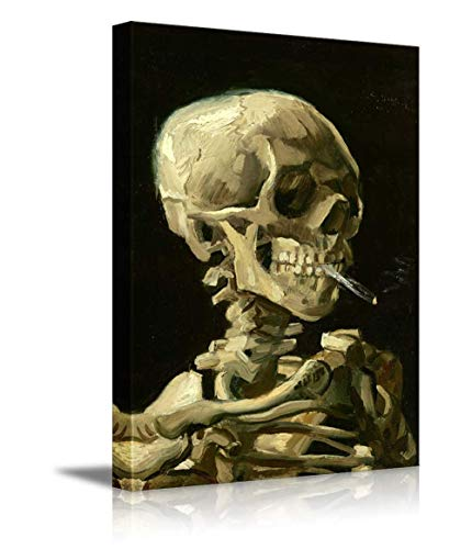 KAROLA Skull of a Skeleton with Burning Cigarette by Vincent