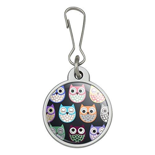 Colorful Owls Cute Pattern Jacket Handbag Purse Luggage Backpack Zipper Pull - Purse Zipper Pattern