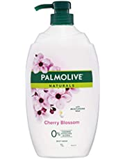 Palmolive Naturals Milk and Cherry Blossom Body Wash with Moisturising Milk 0% Parabens Recyclable, 1L