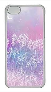 taoyix diy iPhone 5c case, Cute Romantic Pink Tree iPhone 5c Cover, iPhone 5c Cases, Hard Clear iPhone 5c Covers