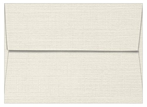 A1 Classic Linen Antique Gray Envelopes - Straight Flap, 80T, 2500 Pack