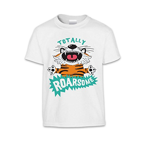 The T-Shirt Factory Shirt Totally Roarsome - enfant Mixte Gris