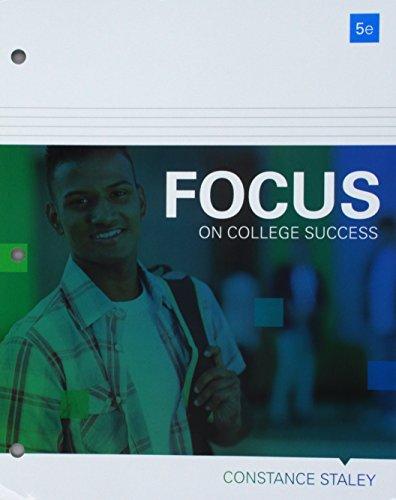 Bundle: FOCUS on College Success, Loose-Leaf Version, 5th + LMS Integrated MindTap College Success, 1 term (6 months) Pr