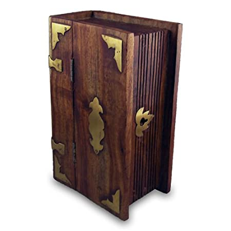 Amazon.com Secret Book Lock Box Small - Disguised Wood Boxes / Hand Made Wooden Storage Home u0026 Kitchen  sc 1 st  Amazon.com & Amazon.com: Secret Book Lock Box Small - Disguised Wood Boxes / Hand ...