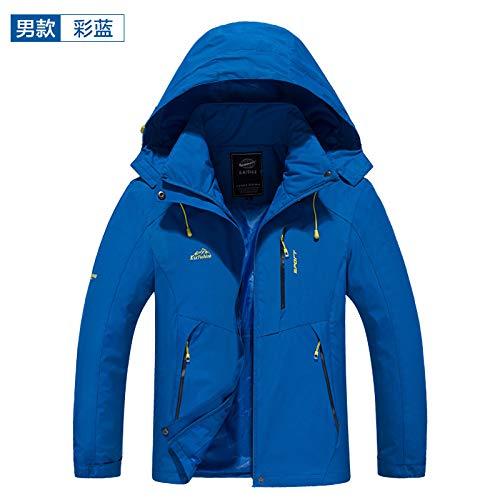 Hombre Wllenen Hombre Exterior Azul Impermeable Chaqueta G para Chaqueta XXL Chaqueta xxHSO7