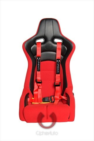Amazon.com: Cipher Racing Red 4-Point Universal Racing Harness Seat