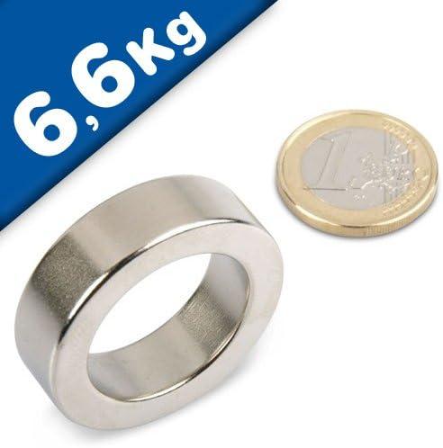/Ø12//9x1.5mm Supermagnete NdFeB 1.5kg Haftkraft starke Magnete Ringmagnete Magnetringe aus Neodym Gr/ö/ße//St/ückzahl:10 St/ück - Haftkraft bis 36kg in Ringform f/ür Industrie und Zuhause