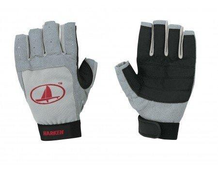 Harken Sport Classic 3/4 Finger Glove, Grey/Black/Red, Large by Harken Sport