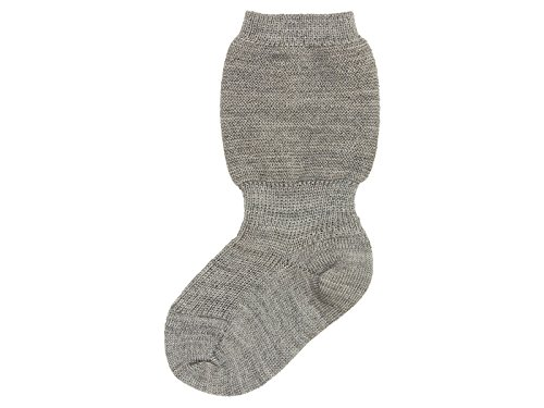 Grödo (Groedo) 100% Organic Merino Wool Baby Infant Socks (3 Pack) Imported from Germany (03 (12-18 Months), Grey)