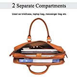 Banuce Full Grains Italian Leather Briefcase for