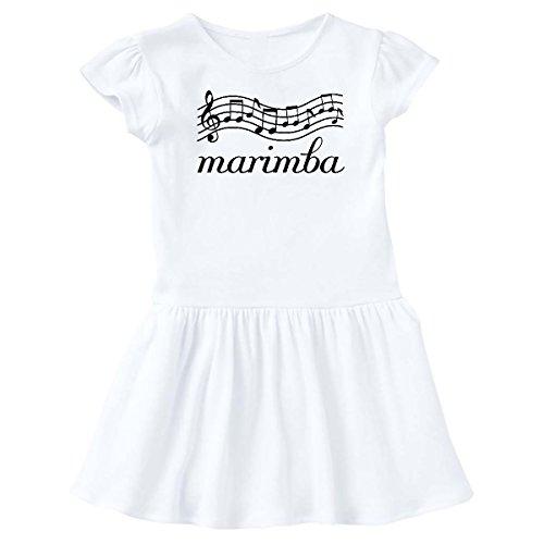 inktastic Marimba Player Music Gift Infant Dress 18 Months White (Marching Marimba)