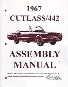 1967 Oldsmobile Cutlass Asamblea Manual libro reconstruir
